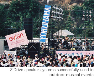 Z-Drive speaker systems successfully used in outdoor musical events