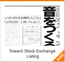 Toward Stock Exchange Listing