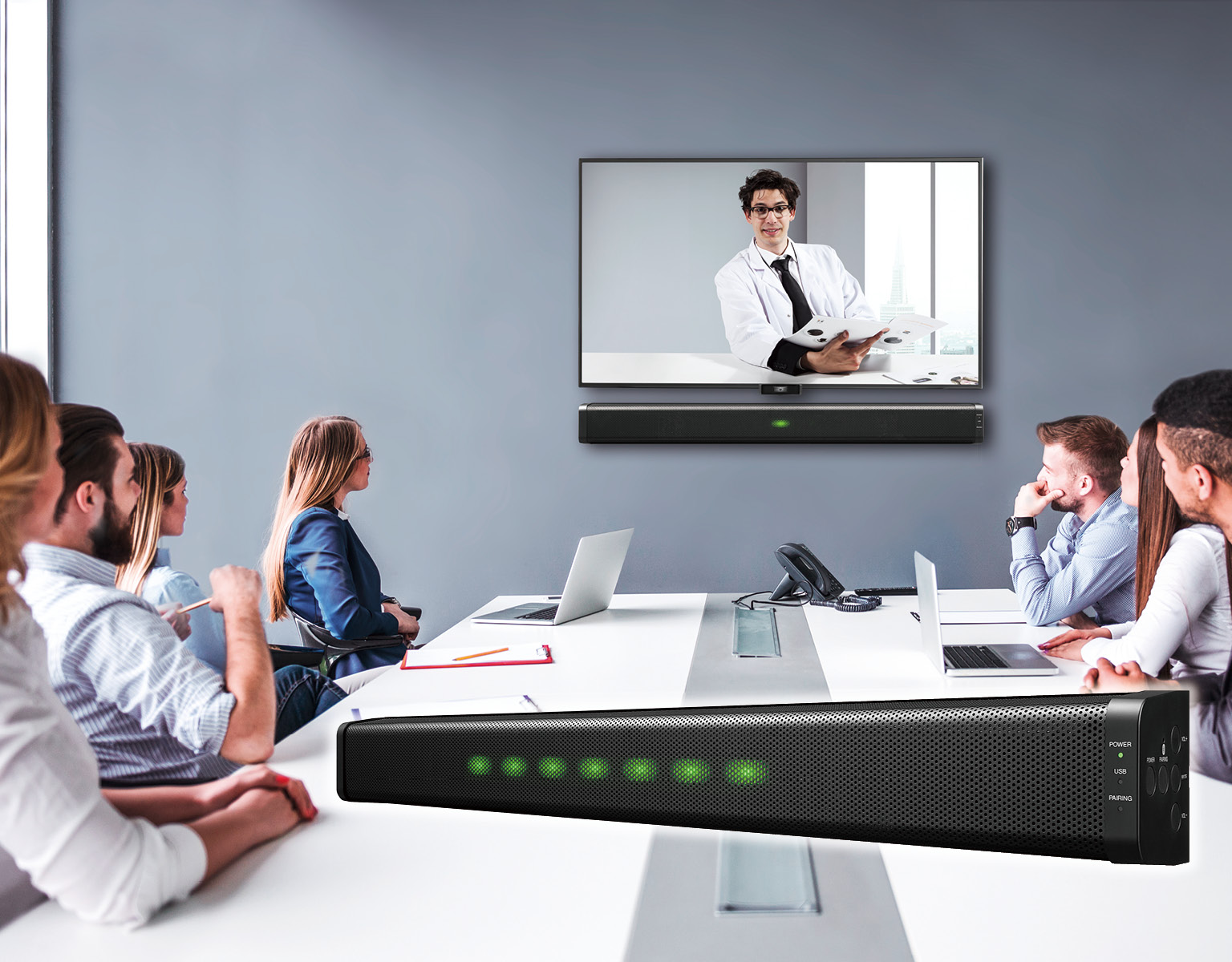 b25c4ce12f00 High quality audio system for web conferencing.