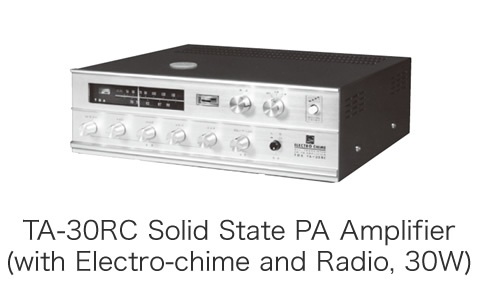 TA-30RC Solid State PA Amplifier(with Electro-chime and Radio, 30W)