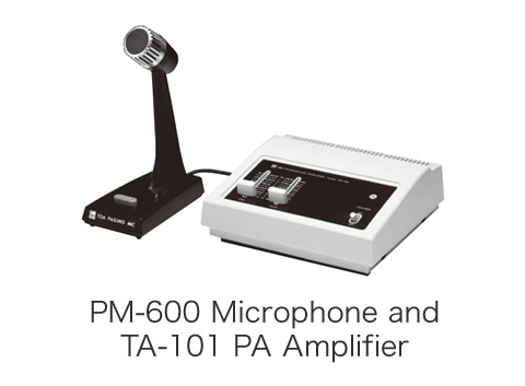 PM-600 Microphone and TA-101 PA Amplifier