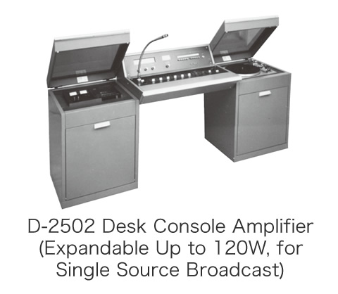 D-2502 Desk Console Amplifier (Expandable Up to 120W, for Single Source Broadcast)