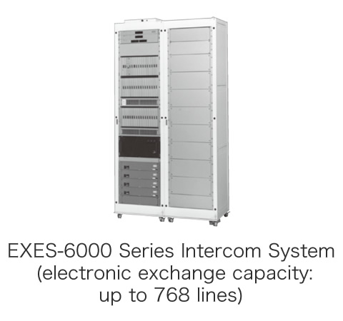 EXES-6000 Series Intercom System (electronic exchange capacity: up to 768 lines)